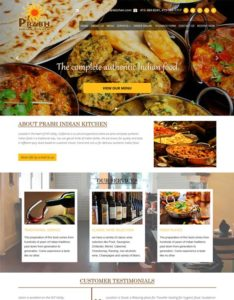 Green Web Media Web Design & Devleopment Services Client - Prabh Indian Kitchen