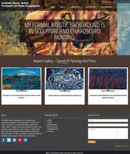 Green Web Media Web Design & Devleopment Services Client - Andrewdavispaintings portland oil paint sculpturist