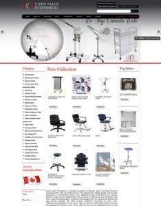 Green Web Media SEO Services Client - Union Salon Furnishing