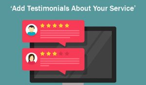 Add Testimonials About Your Service