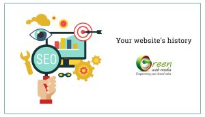 Your website's history