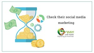 Check their social media marketing